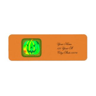 Étiquette Jack vert Halloween o'lantern Thunder_Cove