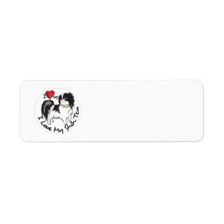 Étiquette J'aime mon chien de Shih Tzu