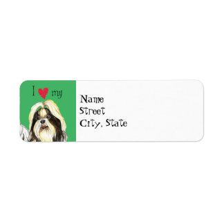 Étiquette J'aime mon Shih Tzu