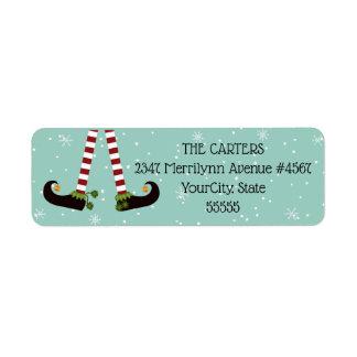 Étiquette Jambes d'Elf, couleur variable d'arrière - plan
