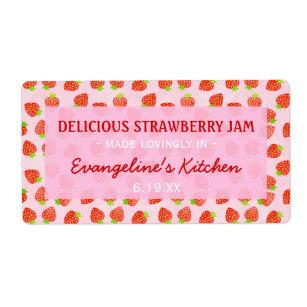 Étiquette Jar à la confiture de fraise assez personnalisée