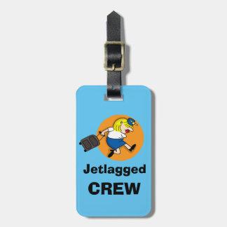 Étiquette Jetlagged de bagage d'équipage Étiquette À Bagage