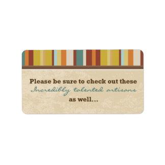 Étiquette Joint de poche de carte de visite (pour des