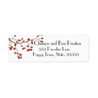 Étiquette Jolies fleurs de fleurs de cerisier