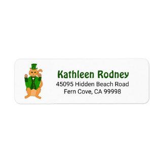 Étiquette Jour de la Saint Patrick chanceux mignon de lutin