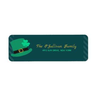 Étiquette Jour de la Saint Patrick de casquette de lutin