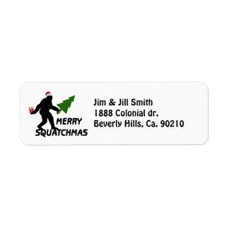 Étiquette Joyeux Squatchmas
