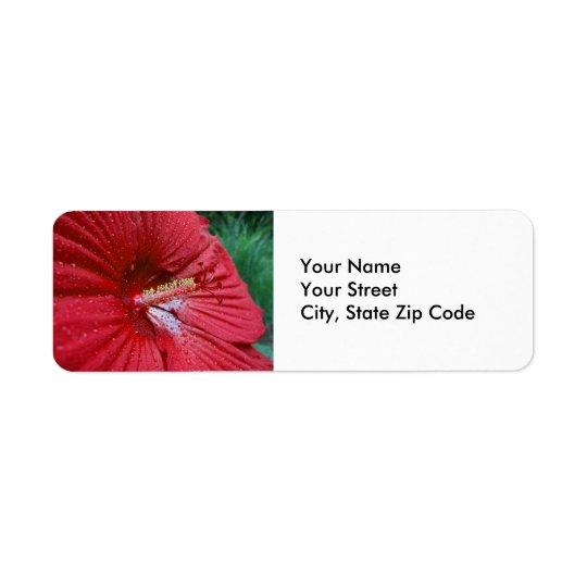 Étiquette Ketmie rouge avec l'étiquette de adresse de retour
