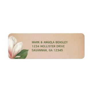 Étiquette La fleur de magnolia du sud épousant l'antiquité