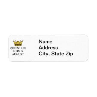 Étiquette La Reine sont née en août