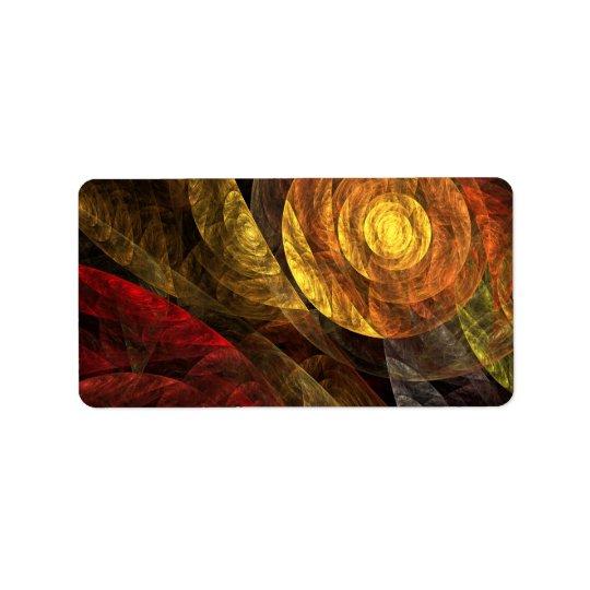 Étiquette La spirale de l'art abstrait de la vie