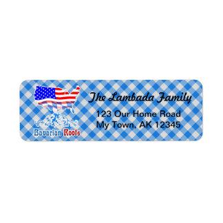 Étiquette L'Américain bavarois enracine le modèle