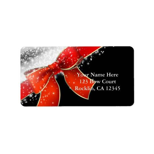 Étiquette L'arc rouge miroite les invitations noires chics
