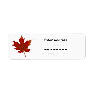 Étiquette L'autocollant du Canada marque l'itinéraire de