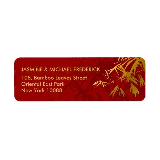 Étiquette Le bambou chic oriental part de l'étiquette de