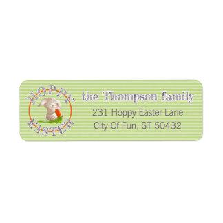 Étiquette Le lapin de Pâques de houblon fait sur commande