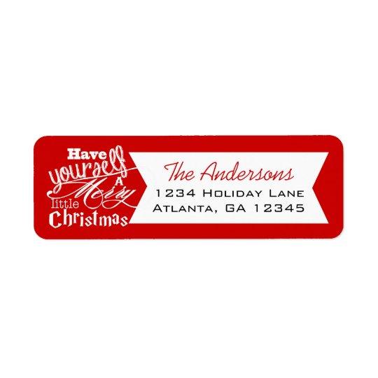 Étiquette Le rouge ont vous-même un Joyeux petit Noël