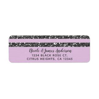 Étiquette Les parties scintillantes argentées pourpres lilas
