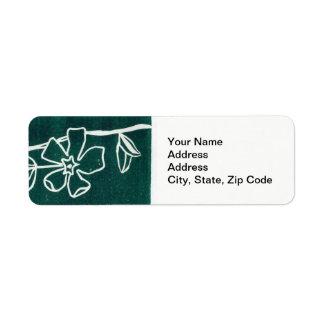 Étiquette L'étiquette de adresse de retour de fleur, rayent