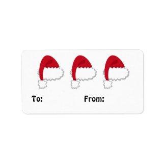 Étiquette L'étiquette de cadeau de casquette de Père Noël