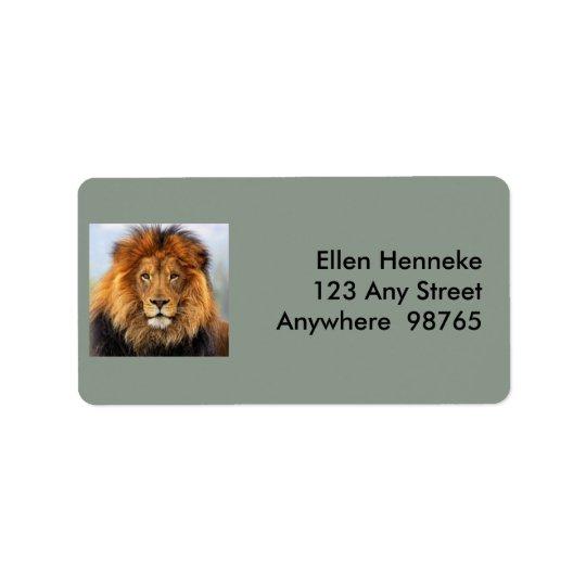 Étiquette Lion africain 1