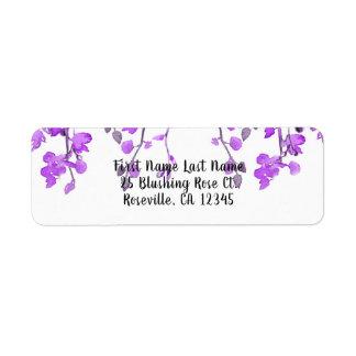 Étiquette L'orchidée pourpre de ressort s'embranche mariage