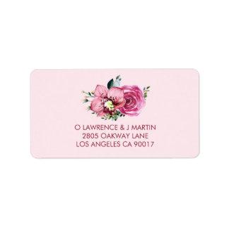 Étiquette L'orchidée rose et s'est levée