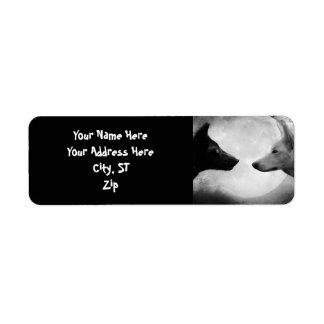 Étiquette Loup noir et blanc - loup de lune - loup de lupus