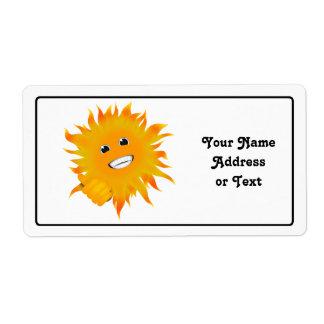 Étiquette M. Happy Sunshine - pouces