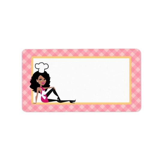 Étiquette Madame Label de Baker d'Afro-américain