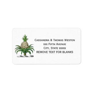Étiquette Manteau héraldique de très bon goût d'ananas de