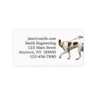 Étiquette Marcheur de chien - queue de chien - saint Germain