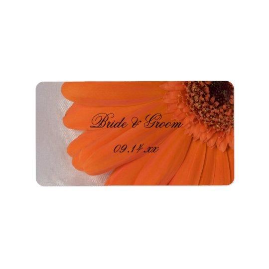 Étiquette Marguerite orange de Gerber et mariage blanc de