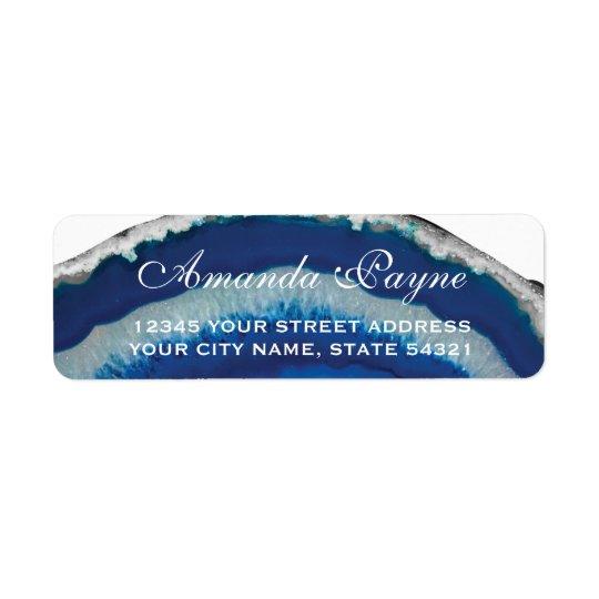 Étiquette Mariage bleu d'agate