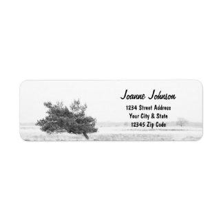 Étiquette Mariage campagnard rustique de pin