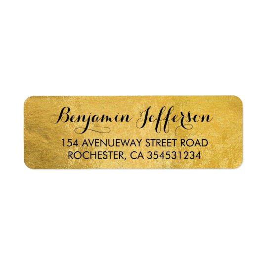 Étiquette Mariage de feuille d'or