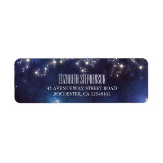 Étiquette Mariage de nuit étoilée de constellation