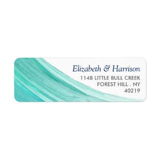 Étiquette Mariage de plage élégant de marées de turquoise