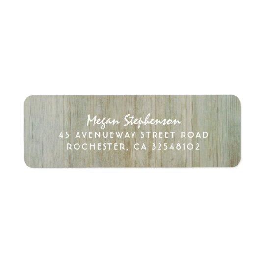 Étiquette Mariage en bois rustique d'image de texture