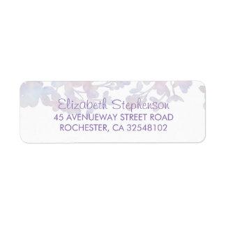 Étiquette Mariage floral d'aquarelles lilas