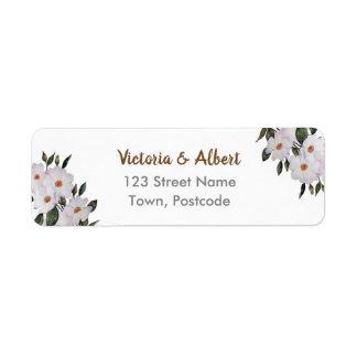 Étiquette Mariage floral d'art de ballerine rose de roses