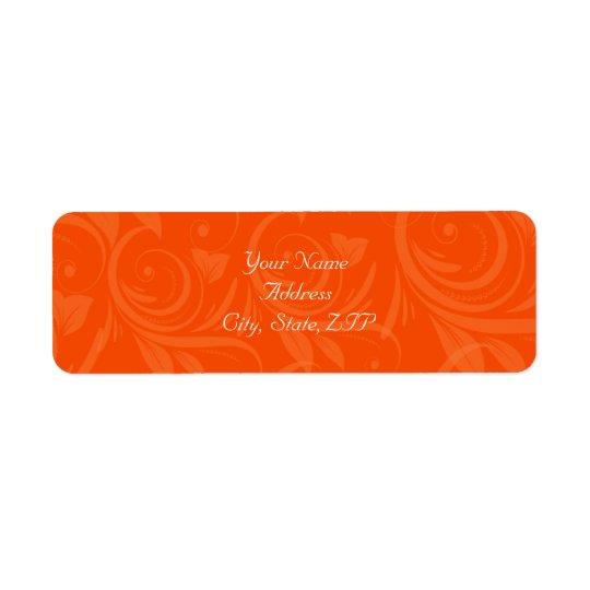 Étiquette Mariage graphique rose d'orange