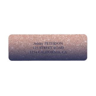 Étiquette Mariage rose de bleu marine de parties