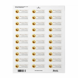 Étiquette MARIAGE STICKERS-LABELS. Colombes de YinYang d'or