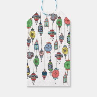 Étiquette marocaine magique de cadeau de lanternes