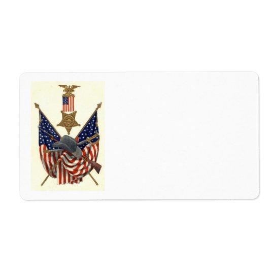 Étiquette Médaille Eagle de guerre civile des syndicats de