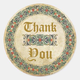 Étiquette médiéval de Merci de Goth de manuscrit