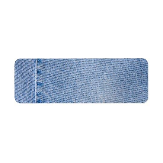 Étiquette Métier d'étiquette de adresse de jeans de denim