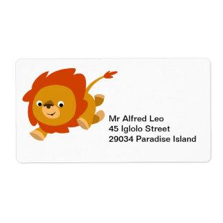 Étiquette mignon rapide d'Avery de lion de bande d Étiquette D'expédition