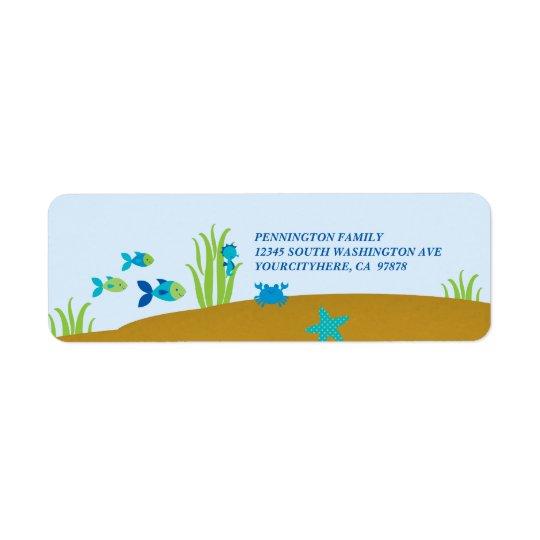 Étiquette Mignon sous l'étiquette de adresse d'avery de mer